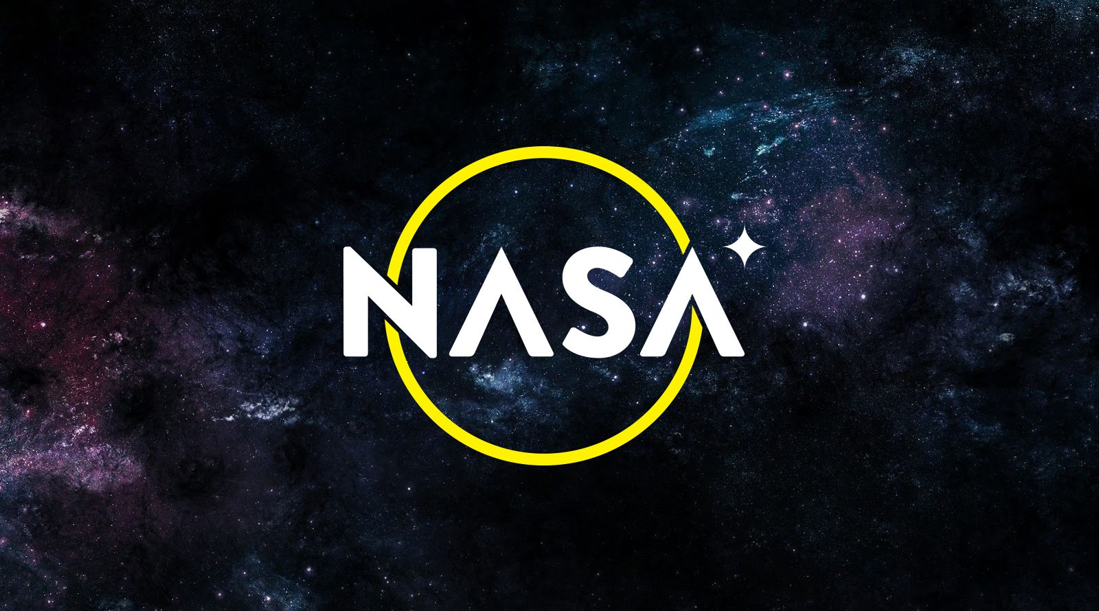 Nasa logo concept on space background